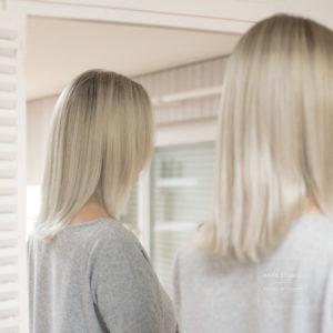 silber blond balayage