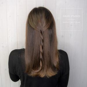 glänzendes braunes haar
